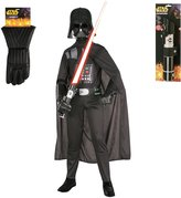 Rubie's Costume Co Kid's Darth Vader Star Wars Costume Set with Lightsaber and Gloves