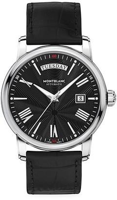 Montblanc 4810 Stainless Steel & Alligator Strap Day-Date Watch