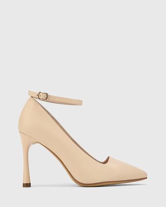Wittner - Women's Neutrals Stilettos - Halba Leather Ankle Strap Stiletto Pumps - Size One Size, 38 at The Iconic