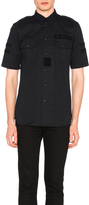 Givenchy Military Velcro Patch Short Sleeve Shirt