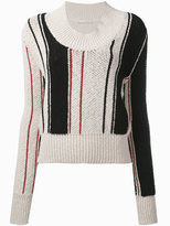 J.W.Anderson scoop stripe jumper - women - Cotton/Spandex/Elastane - S