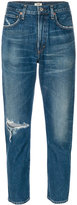 Citizens of Humanity crop ripped skinny jeans