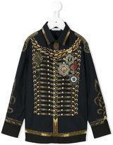 Dolce & Gabbana military print shirt - kids - Cotton - 4 yrs