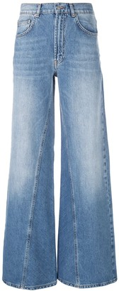 Ganni Bleached Wide Jeans