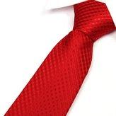 """TOPTIE Men's Dots Check Woven Tie 3.2"""" Inch Necktie Tie - Various Colors"""