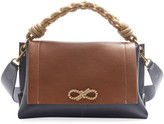 Anya Hindmarch Rope Bow Bag in Soft Leather with Natural Smooth Rope