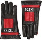 Kokon To Zai Two Tone Embroidered Leather Gloves