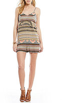 GUESS Keira Scarf-Print Ruffle-Trimmed Romper