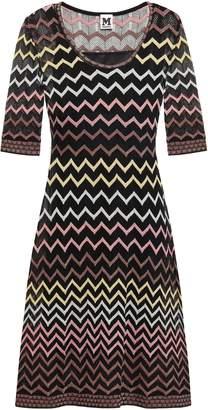 M Missoni Flared Metallic-trimmed Crochet-knit Dress