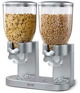 Zevro Double IndispensableTM Cereal and Dry Food Dispenser in Silver