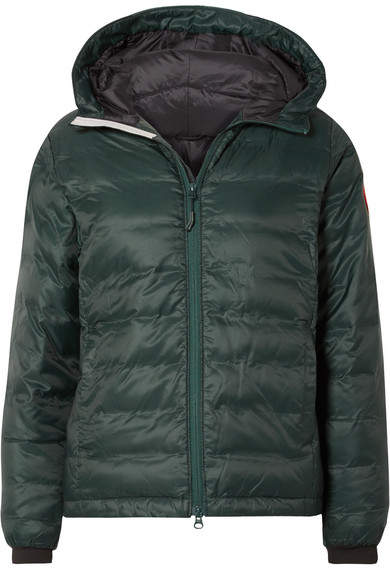 Canada Goose Camp Hooded Quilted Shell Down Jacket - Dark green