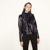Maje Patent leather jacket with quilting