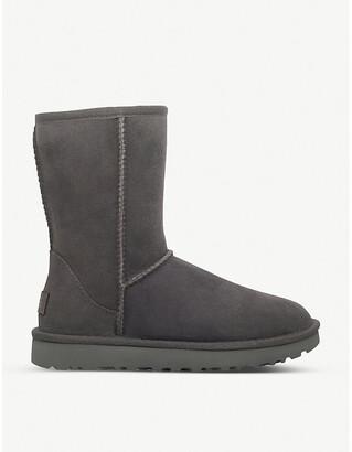 UGG Ladies Grey Luxury Classic Ii Short Sheepskin Boots