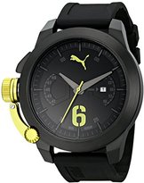 Puma Men's PU103781003 Advance Black Analog Display Japanese Quartz Black Watch
