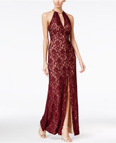 B. Darlin Juniors' Lace Halter Dress