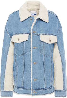 Sjyp Faux Shearling And Denim Jacket