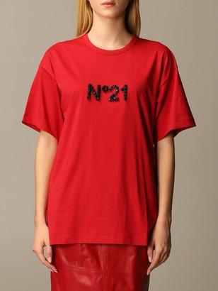 N°21 N deg; 21 Over T-shirt With Big Nude Beach Writing