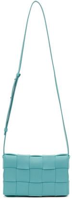 Bottega Veneta Blue Intrecciato Small Cassette Bag