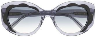 Emilio Pucci 80's Round Shaped Sunglasses