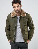 Schott Air Bomber Jacket Faux Fur Collar Exclusive - ShopStyle Men