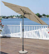 Asstd National Brand 9' Outdoor Patio Market Umbrella with Hand Crank and Tilt - Sage/Brown and Black