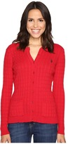 U.S. Polo Assn. Solid Cable Knit Cardigan