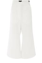 Ellery White Crepe Flared Privilege Pants