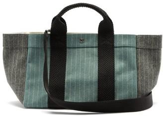 Rue De Verneuil - Parcous Pinstriped Wool-blend Tote Bag - Blue Multi