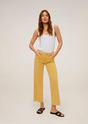 MANGO Mid waist culotte jeans mustard - 1 - Women