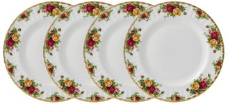 Royal Albert Old Country Roses 4-Piece Plate Set (27Cm)