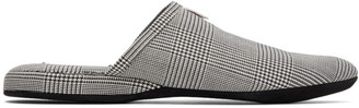 Thom Browne Black and White 4-Bar Engineered Slippers