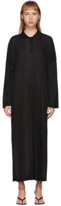 Totême Black Barzio Polo Dress