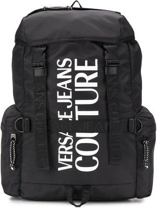 Versace Jeans Couture Printed Logo Backpack