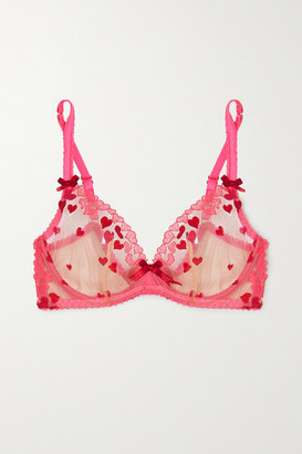Agent Provocateur Cupid Embroidered Tulle Underwired Bra - 32B