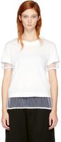 Noir Kei Ninomiya White Tulle Hem T-shirt