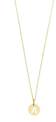 Bony Levy 14K Yellow Gold Initial Pendant Necklace - Multiple Letters Available