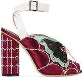 Marco De Vincenzo butterfly web ankle strap sandals