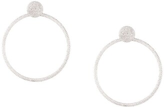 Carolina Bucci Florentine Finish Large Round Door Knocker Earrings