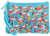 sweet deluxe FLAMINGO Clutch turquoise