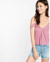 Express off the shoulder v-neck tank