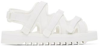 Fumito Ganryu White Suicoke Edition Silicone Sandals