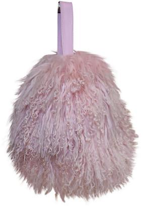 CHARLOTTE SIMONE Pink Shearling Handbags