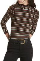 Free People Women's I'M Cute Stripe Turtleneck Sweater