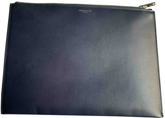 Saint Laurent Navy Leather Small bags, wallets & cases