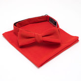 General Knot & Co Persimmon Requisite Bow & Pocket Square Set