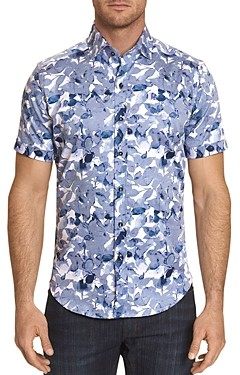 Robert Graham Teasdale Printed Short-Sleeve Classic Fit Button-Down Shirt