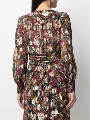 BA&SH Leia floral-print wrap blouse