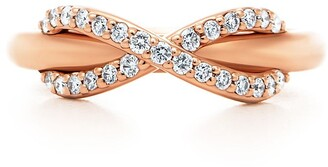 Tiffany & Co. & Co. Infinity ring in 18k rose gold with diamonds - Size 5 1/2