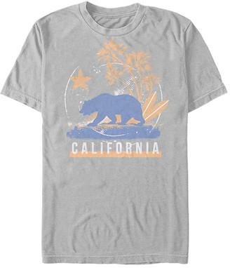 Fifth Sun Men's Tee Shirts SILVER - Silver 'California' Bear Island - Men
