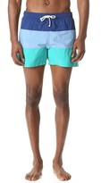 MAISON KITSUNÉ Tricolor Fox Patch Swim Shorts